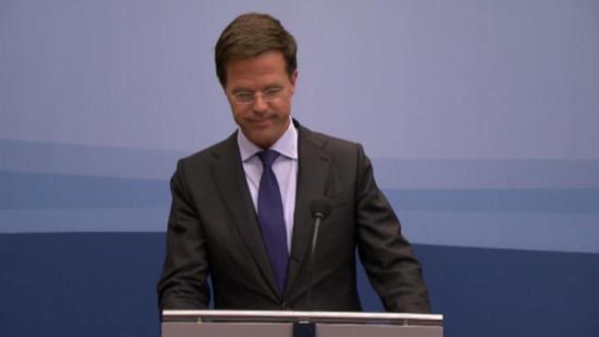 Wekelijkse Persconferentie Premier Rutte Na Ministerraad