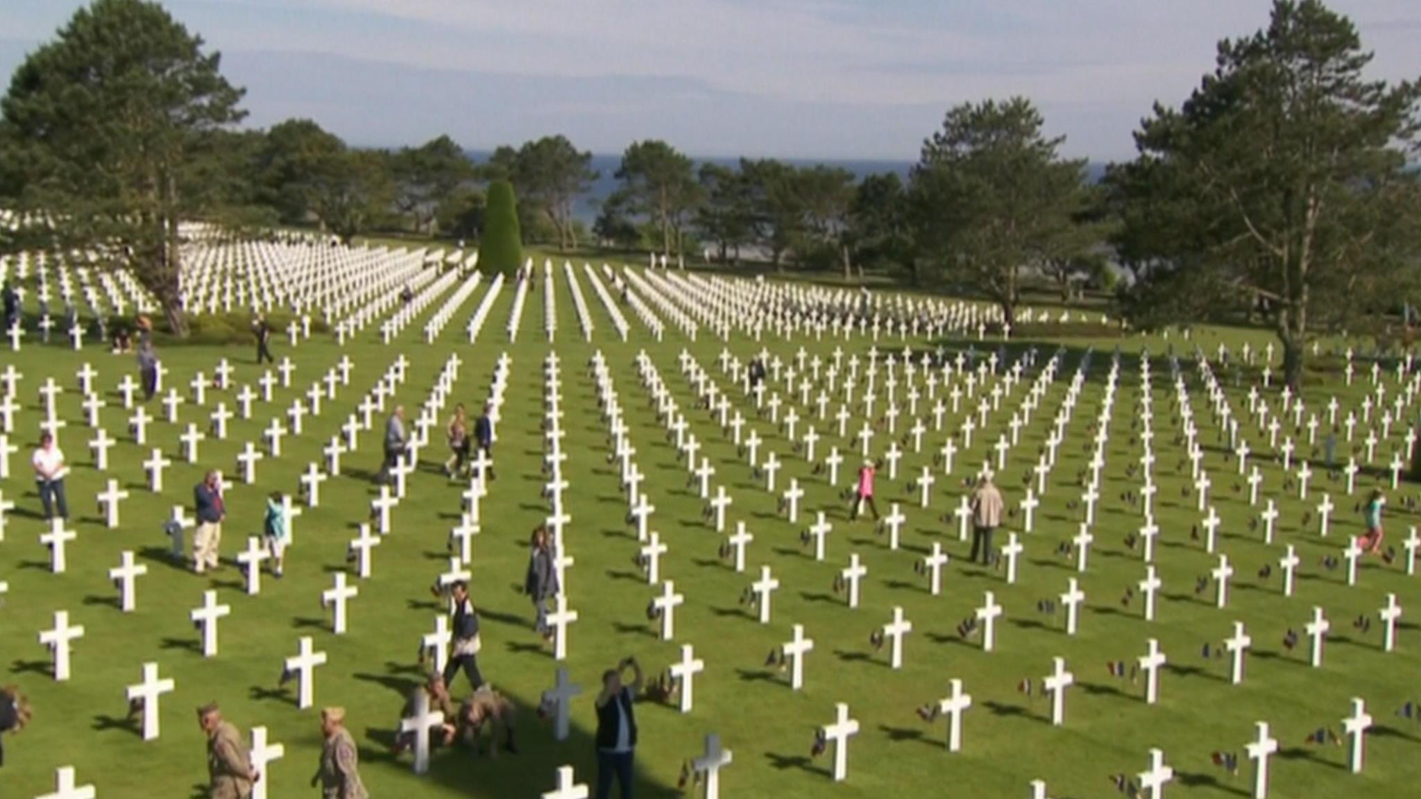 Amerikaanse slachtoffers herdacht bij Omaha Beach   NOS