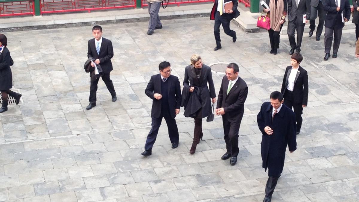 Koningin Máxima spreekt Chinese studenten toe