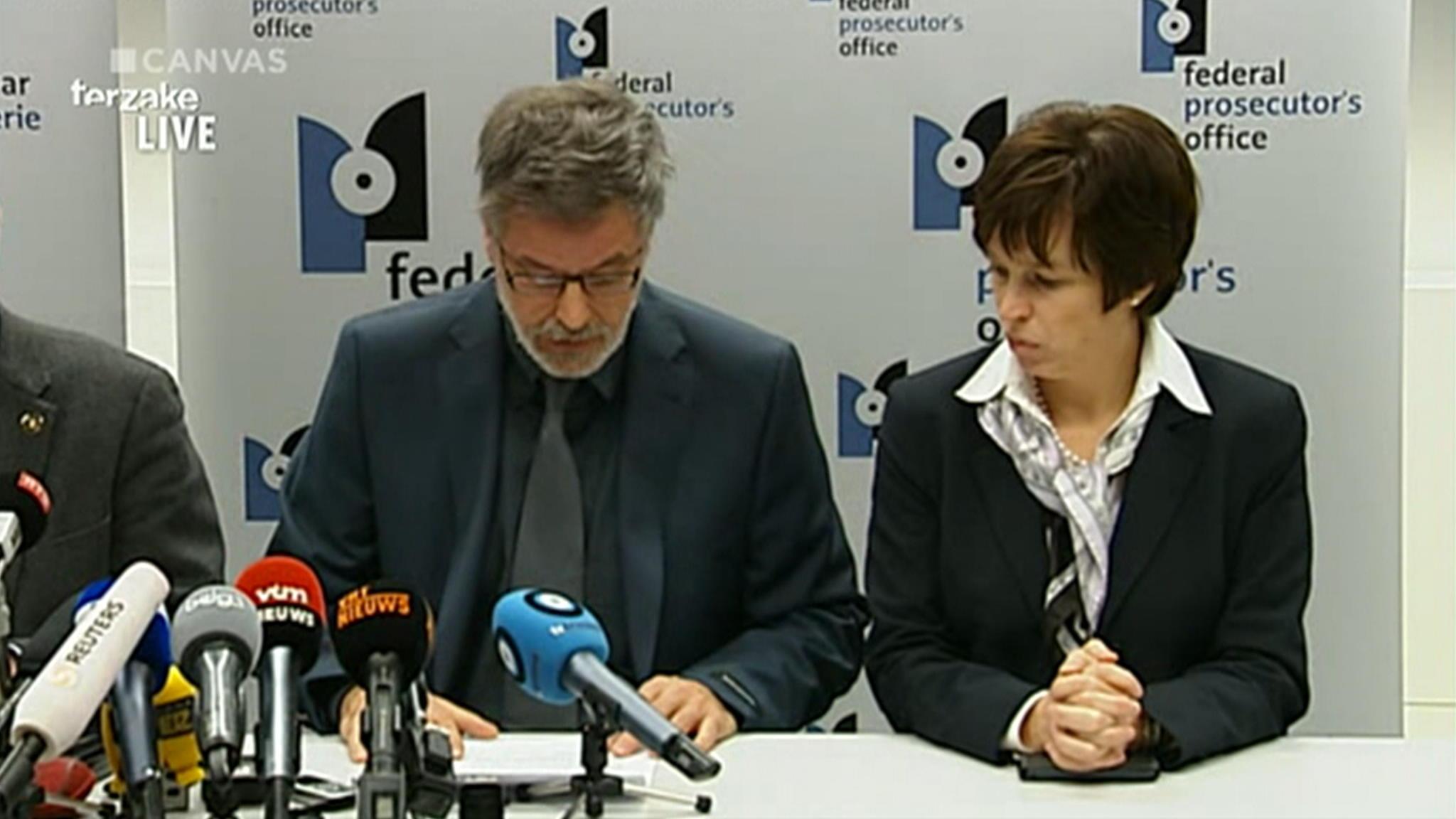 Persconferentie Belgische Justitie