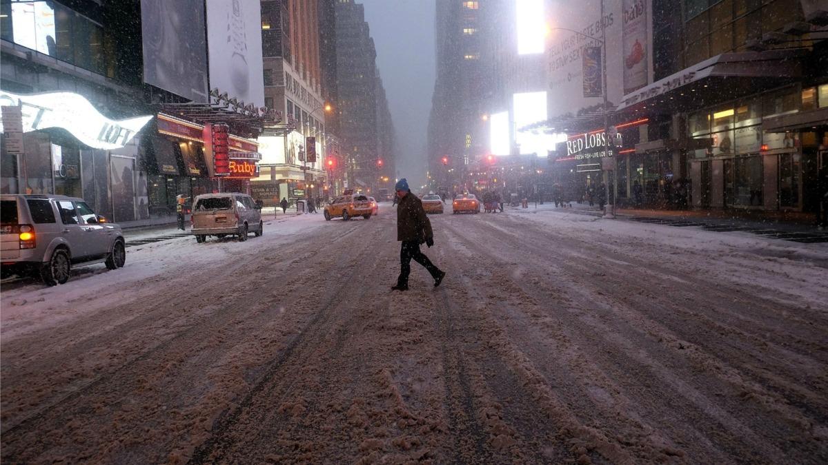 Verwachte sneeuwstorm houdt New Yorkers binnen
