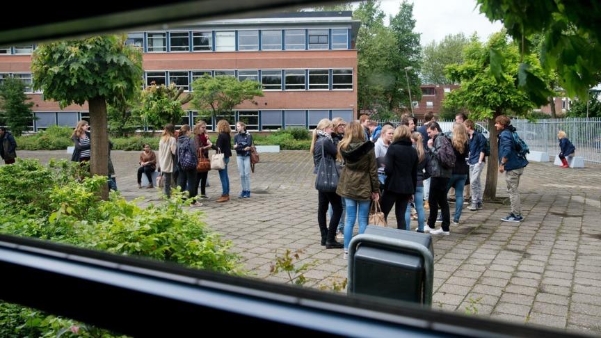 Flirten op het schoolplein