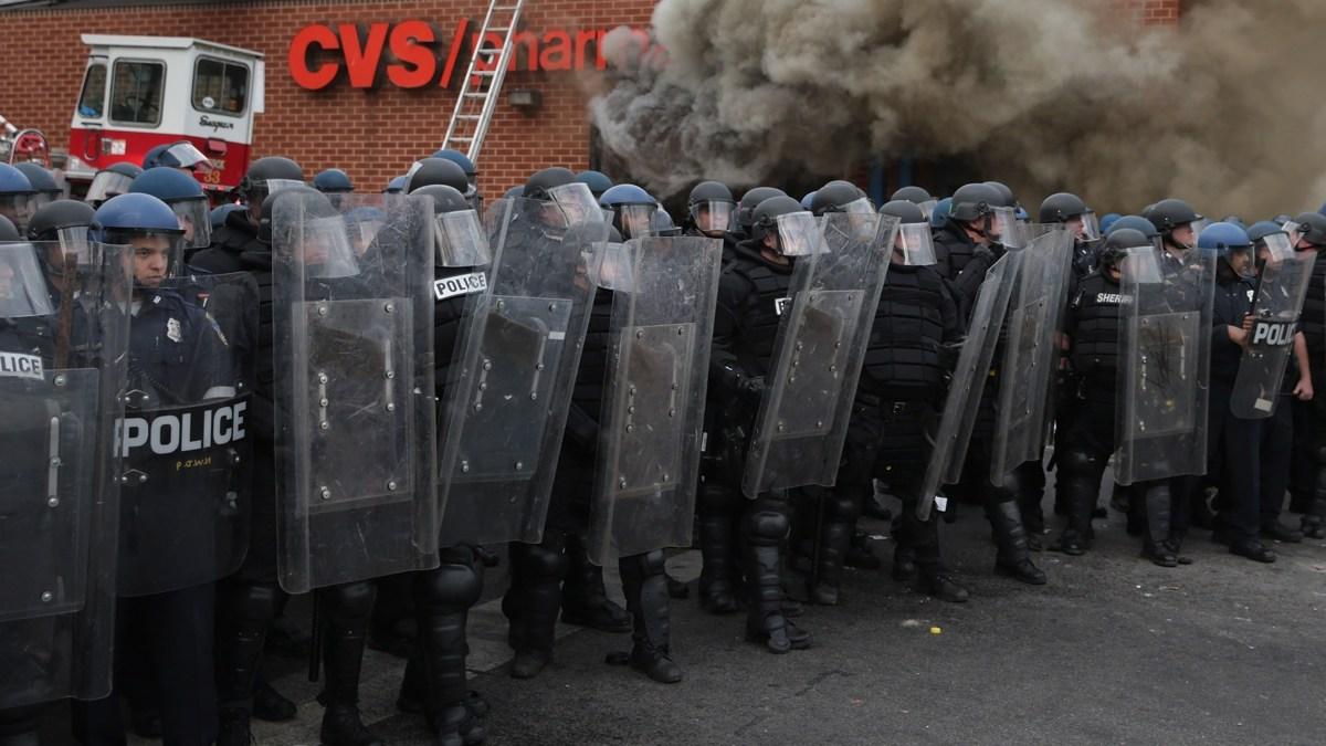 Noodtoestand om rellen in Baltimore