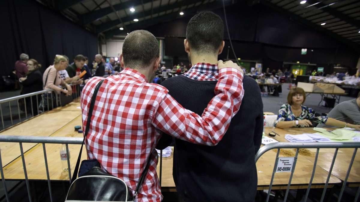Ierse voorstanders homohuwelijk vieren al feest