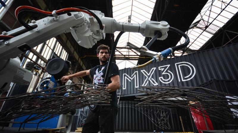 Centrum van Amsterdam krijgt 3D-geprinte brug
