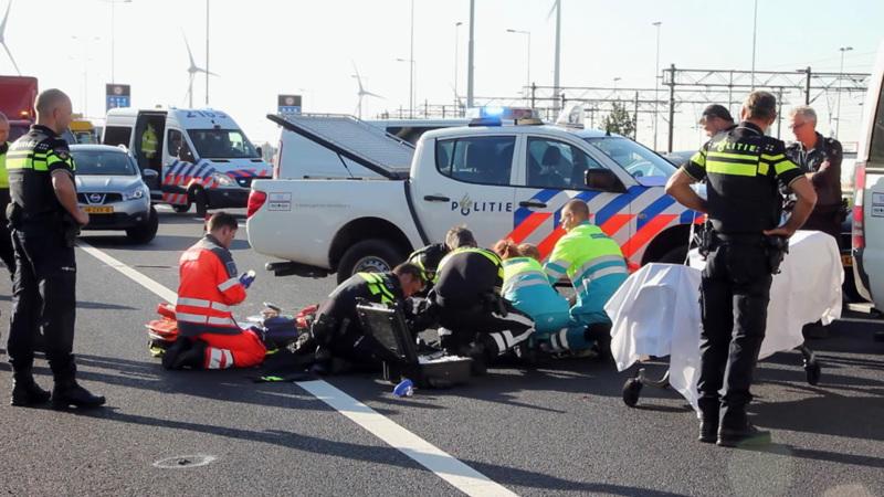 Politie overweldigd door medeleven na ongeluk motoragent.