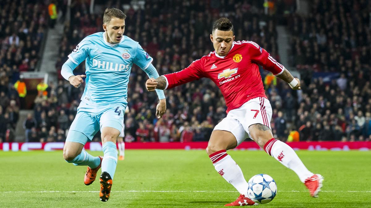 PSV houdt United op 0-0 op Old Trafford