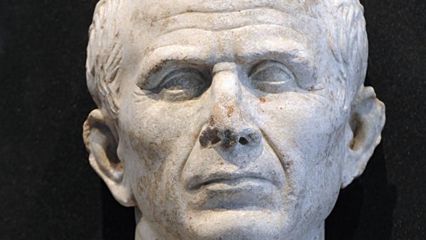 Julius Caesar sculpture, AFP photo