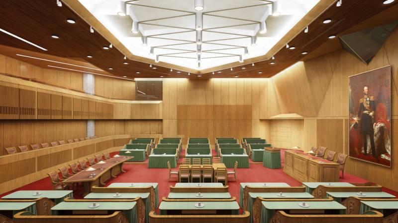 Interieur tweede kamer kan mee naar buitenlandse zaken nos for Kamer interieur