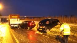 Gewonden bij ongeluk door gladheid op N248.