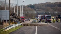 A76 voorlopig dicht na ernstig ongeval vrachtauto.