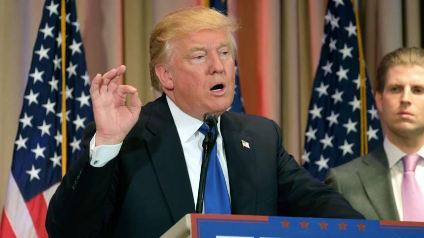 """quality design d3737 35c74 Efter segern på """"Super Tuesday"""" gav Trump ett högmodigt tal till sina  anhängare."""