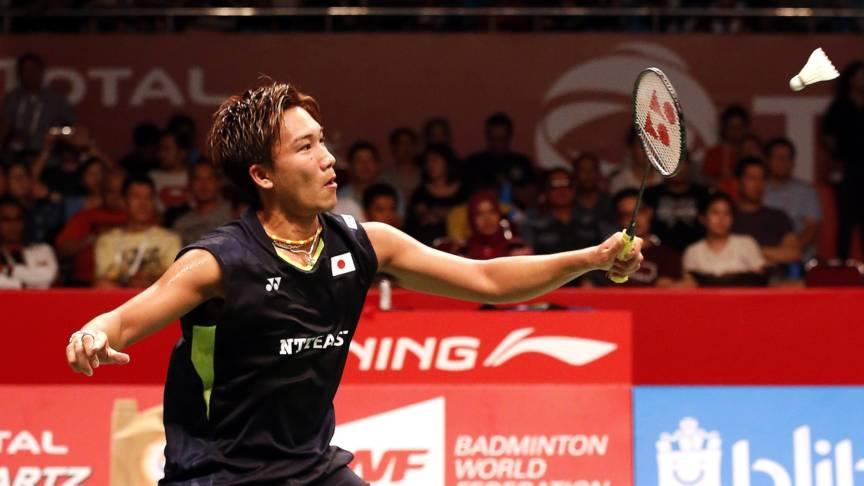Kento Momota, badminton spel sterspeler
