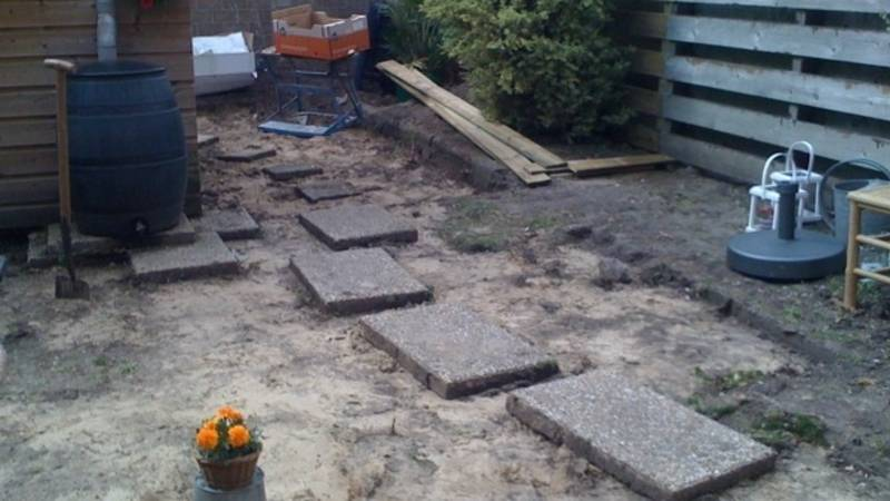 Tegels Leggen Tuin : Tegels leggen tuin fabulous als u het leuk vind om samen de tuin