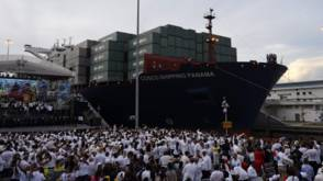 Bekijk details van Asscher gebruikt heropening Panamakanaal voor finale VN-lobby