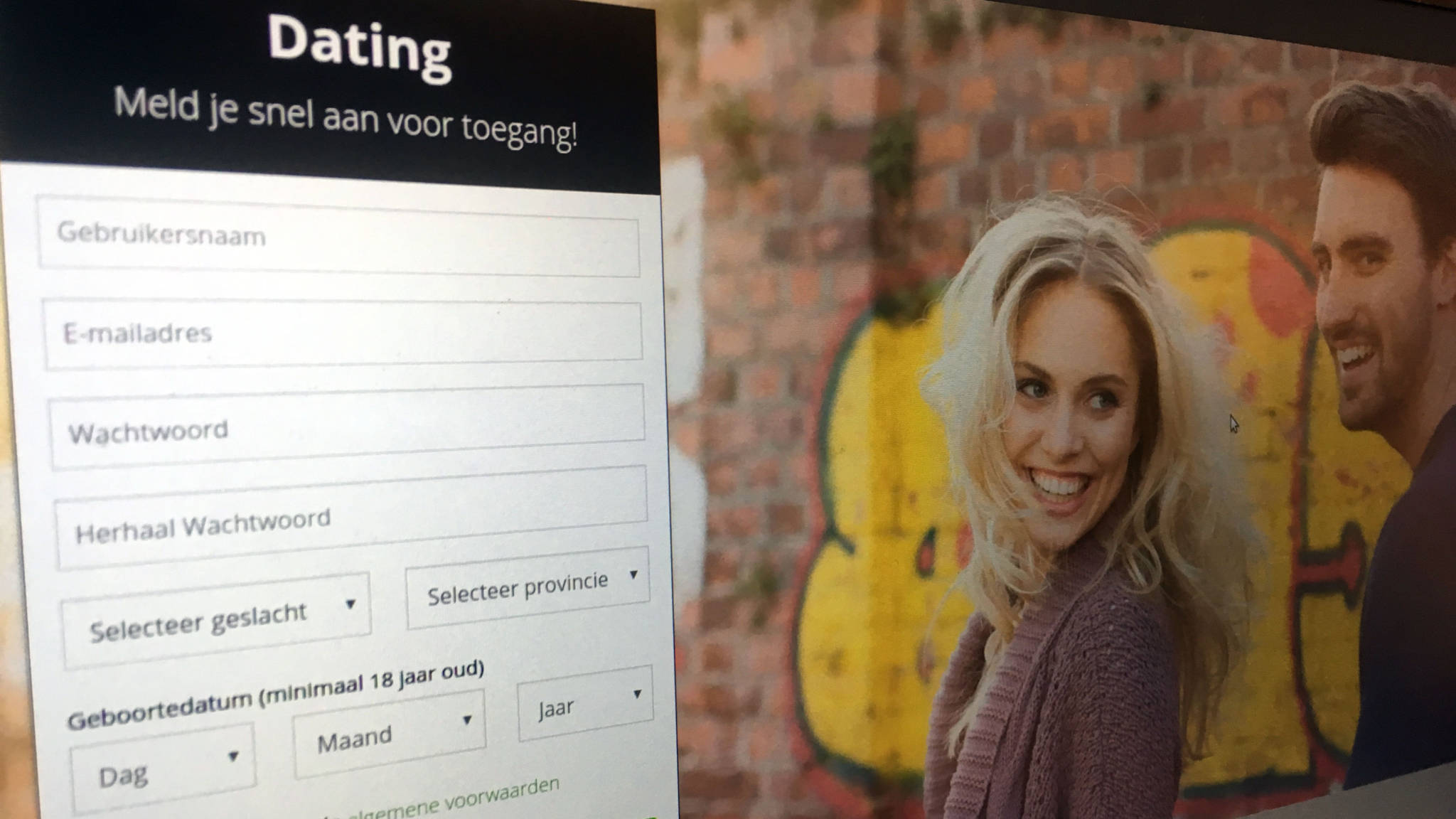 Dating sites slogan