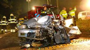 Vijf gewonden bij frontale botsing in Noord-Brabant