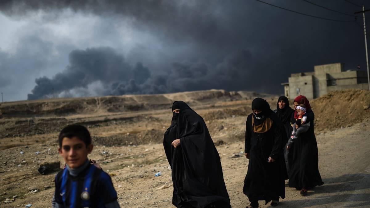 'IS gebruikt tienduizenden burgers als menselijk schild in Mosul'
