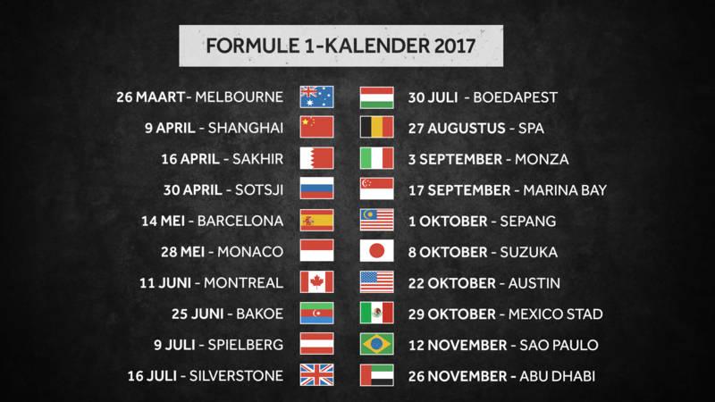Formule 1-kalender 2017: Hockenheim ontbreekt | NOS