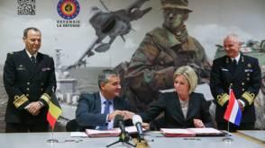 Hennis zwijgt over nieuwe marineschepen, Belgen loslippiger