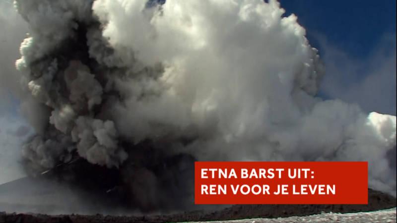 Gewonden door uitbarsting Etna: cameraploeg vlucht | NOS