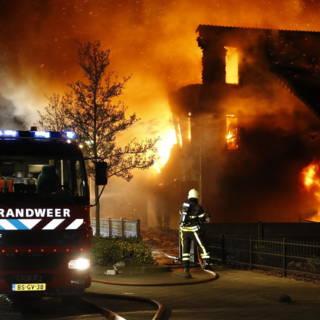 'Villa drugscrimineel Etten-Leur uitgebrand door brandbommen'