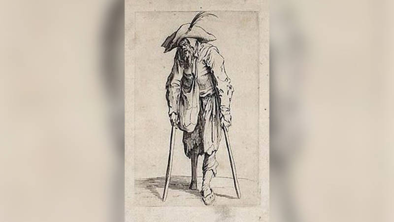 Admiral Cornelis Jol and his peg leg