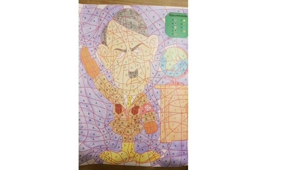 kleurboek met plaatje uit de winkel nos jeugdjournaal