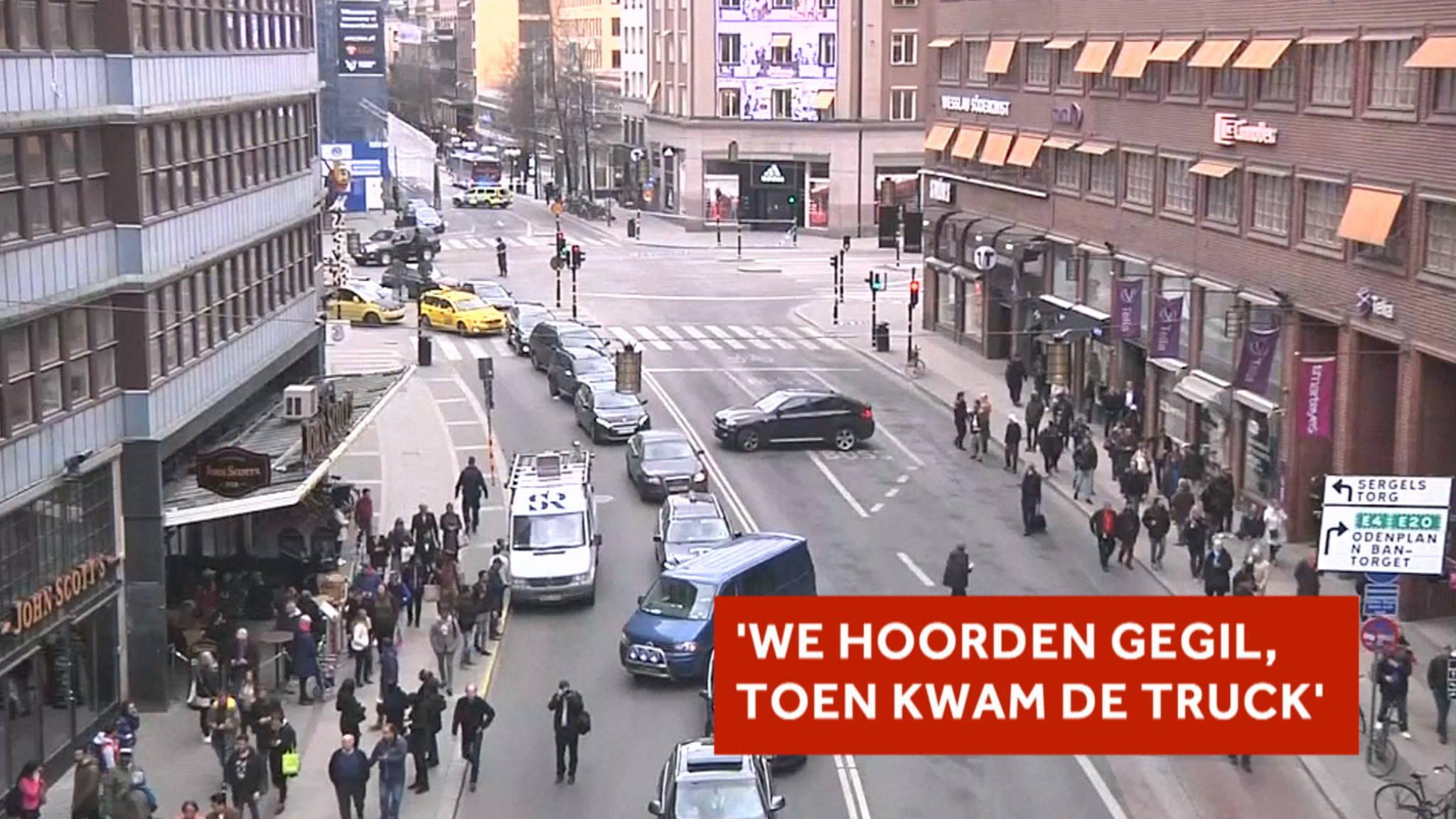 Ooggetuigen in Stockholm over de aanslag   NOS