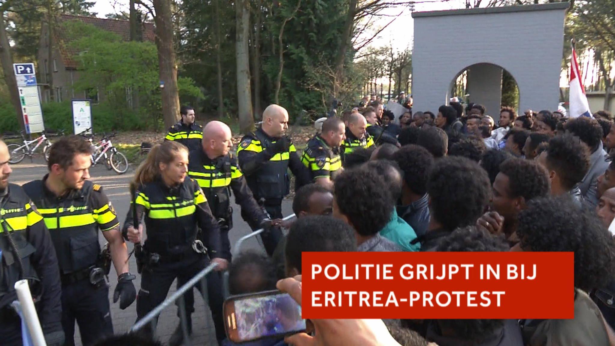 Politie grijpt in bij Eritrea-demonstratie   NOS