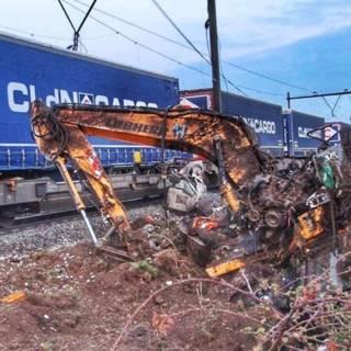 Dagen geen treinen door botsing op spoor bij Deurne