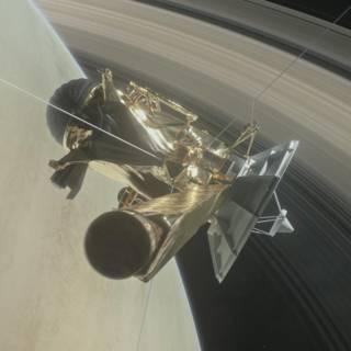 'Gelukt!' Ruimtesonde Cassini vliegt tussen Saturnus en de ringen