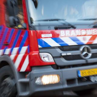 Grote brand in oude betonfabriek Gorinchem