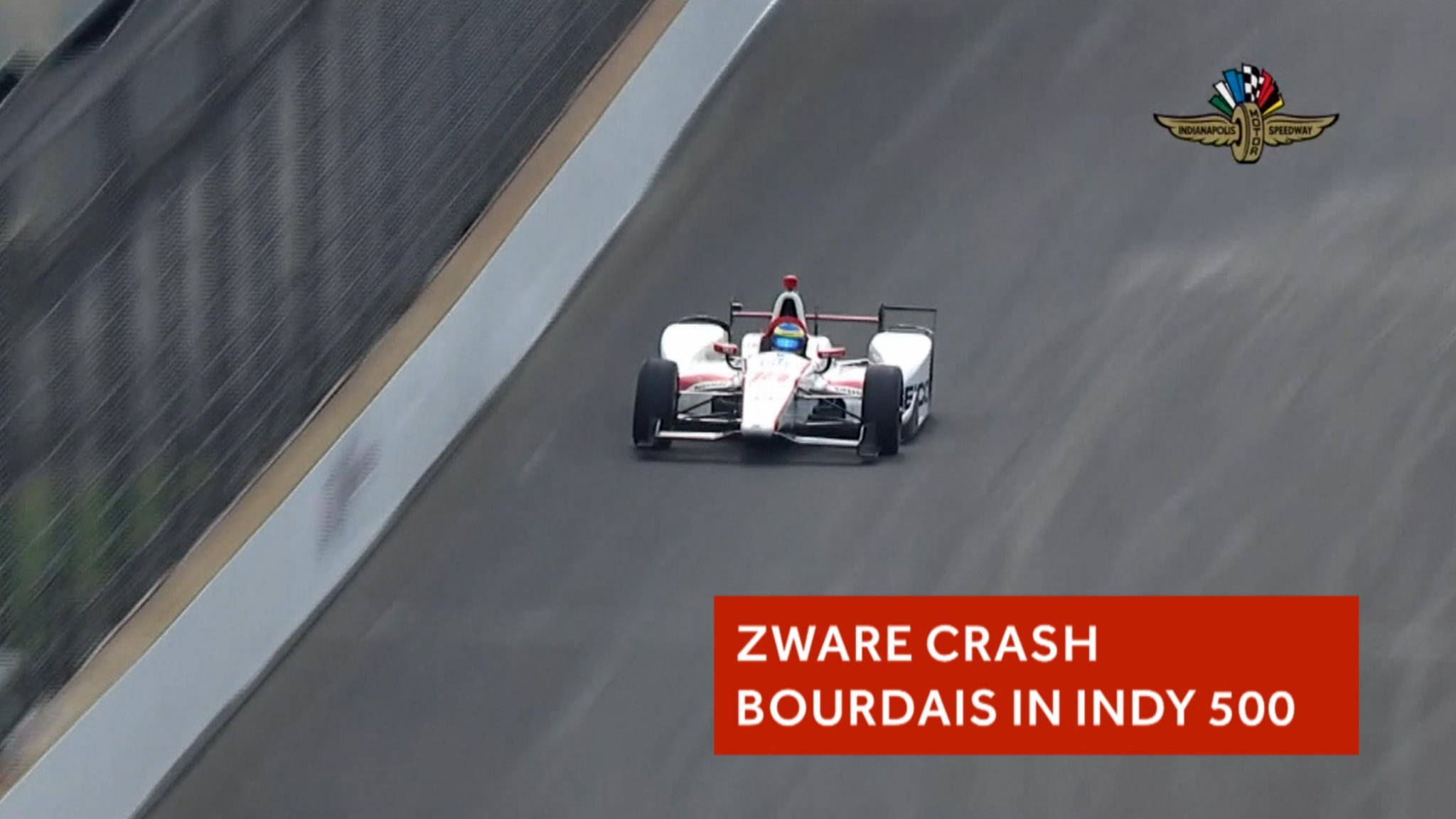 zware crash bourdais schrikt indy 500 op nos. Black Bedroom Furniture Sets. Home Design Ideas