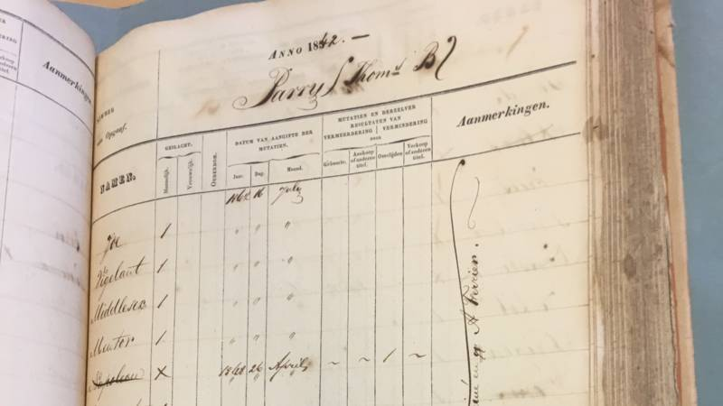 Suriname slave register, NOS photo