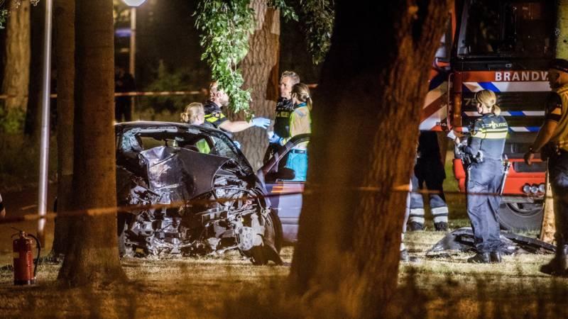 Automobilist verongelukt bij achtervolging Eindhoven.
