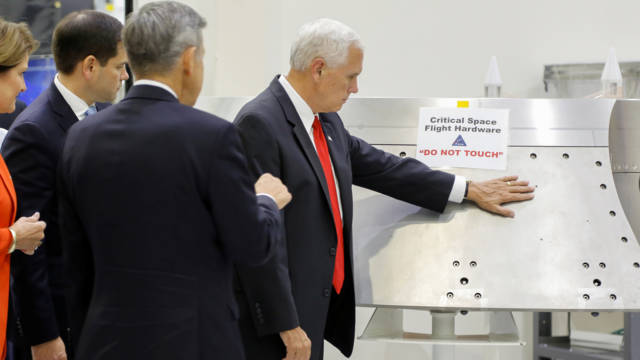 Mike Pence and NASA rules, Reuters photo