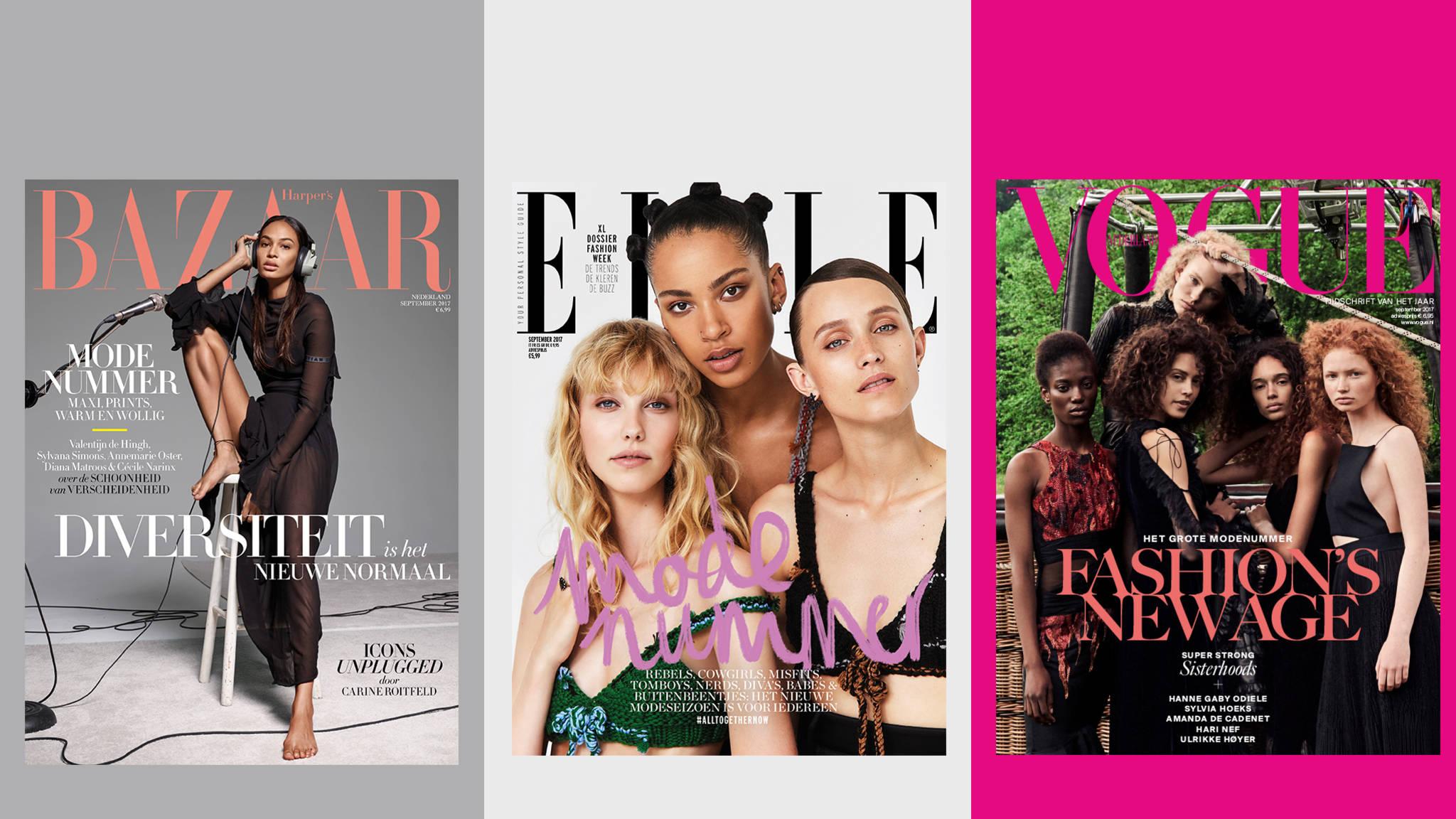 Fonkelnieuw Modebladen willen meer kleur op de cover: blijvend of tijdelijke YC-92
