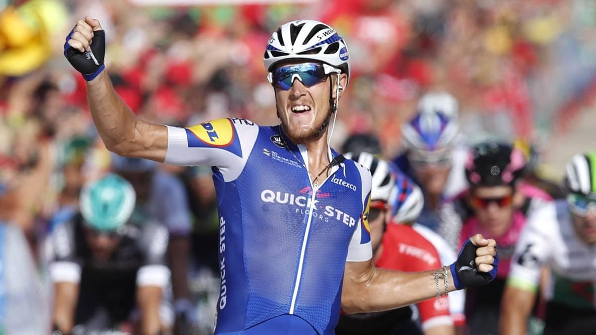 Trentin is Lotto-renner Lobato net te snel af in Vuelta