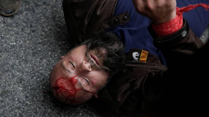 Police violence in Catalonia