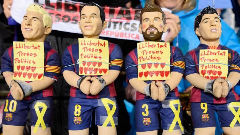 Barcelona protest, AFP photo