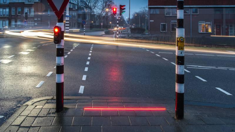 'Lichtlijn zorgt voor veiligere verkeerssituatie'