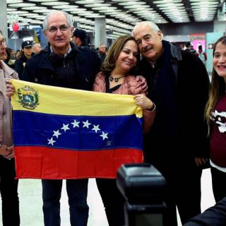 Venezolaanse oppositieleider Ledezma duikt op in Spanje