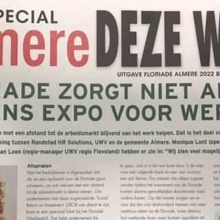 Almere vermomt reclamefolder Floriade als huis-aan-huisblad