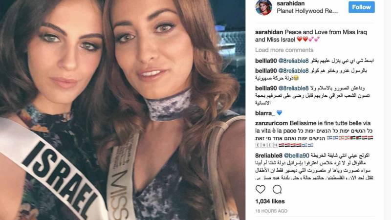 Doodsbedreigingen Miss Irak na selfie met Miss Israël
