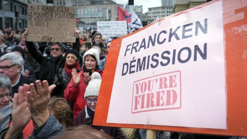 Demonstration against Francken in Brussels, 30 December 2017, EPA photo