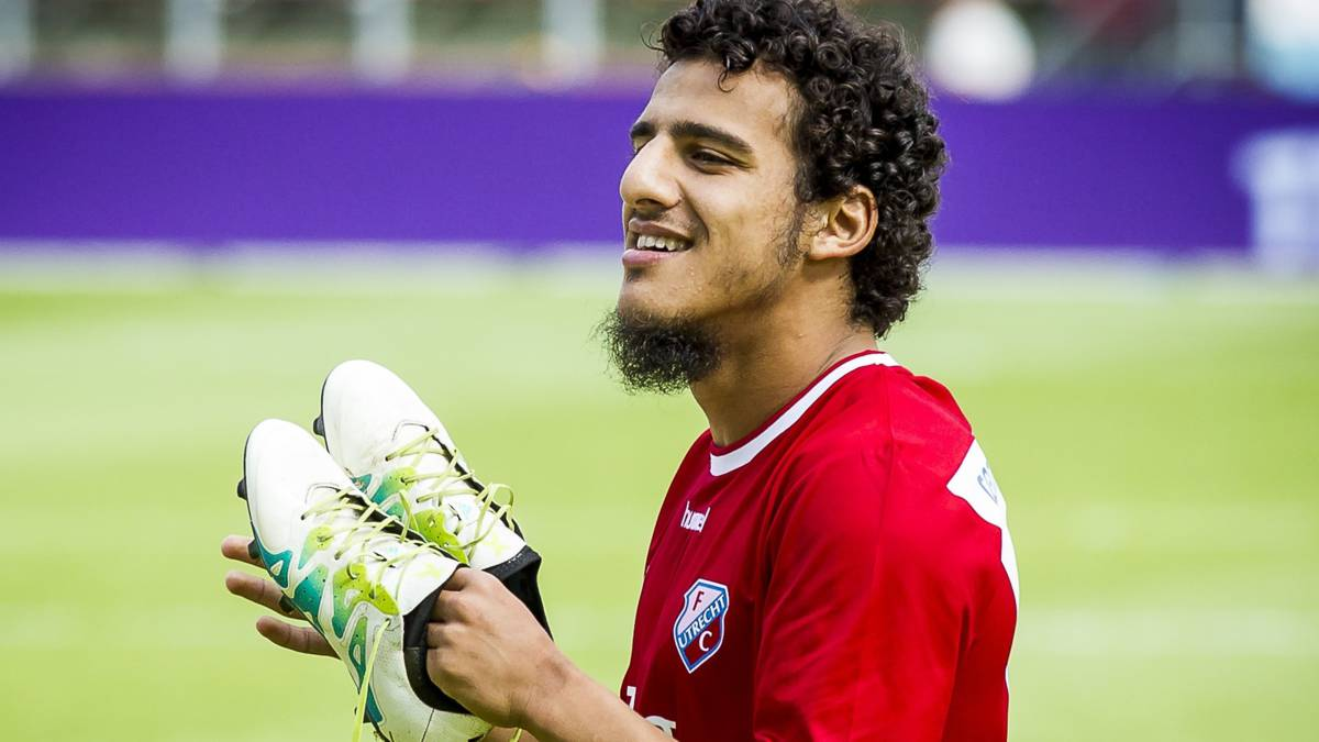 Toekomstig Feyenoorder Ayoub krijgt die lach niet van zijn gezicht