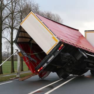 Chauffeurs moesten van baas tijdens storm de weg op
