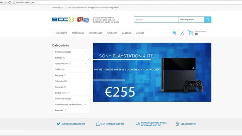Flinke groei valse webwinkels: 'oplichter gebruikt url ...