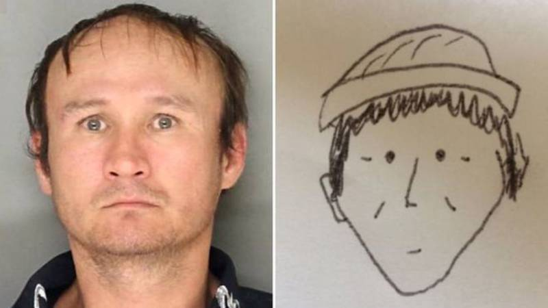 De tekening rechts en de foto links: een match, volgens Amerikaanse agent